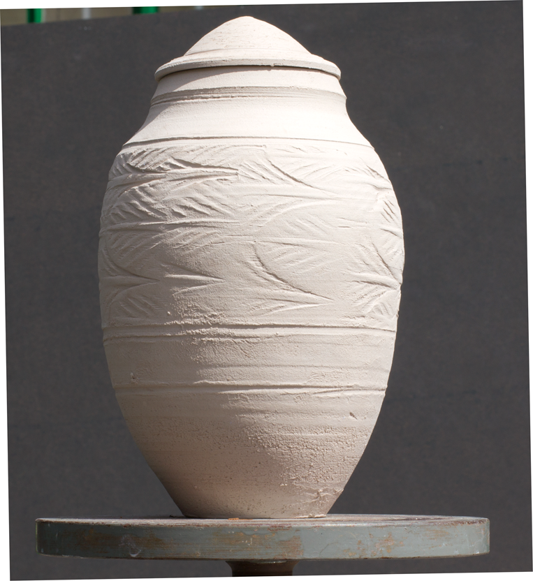Unglazed pot