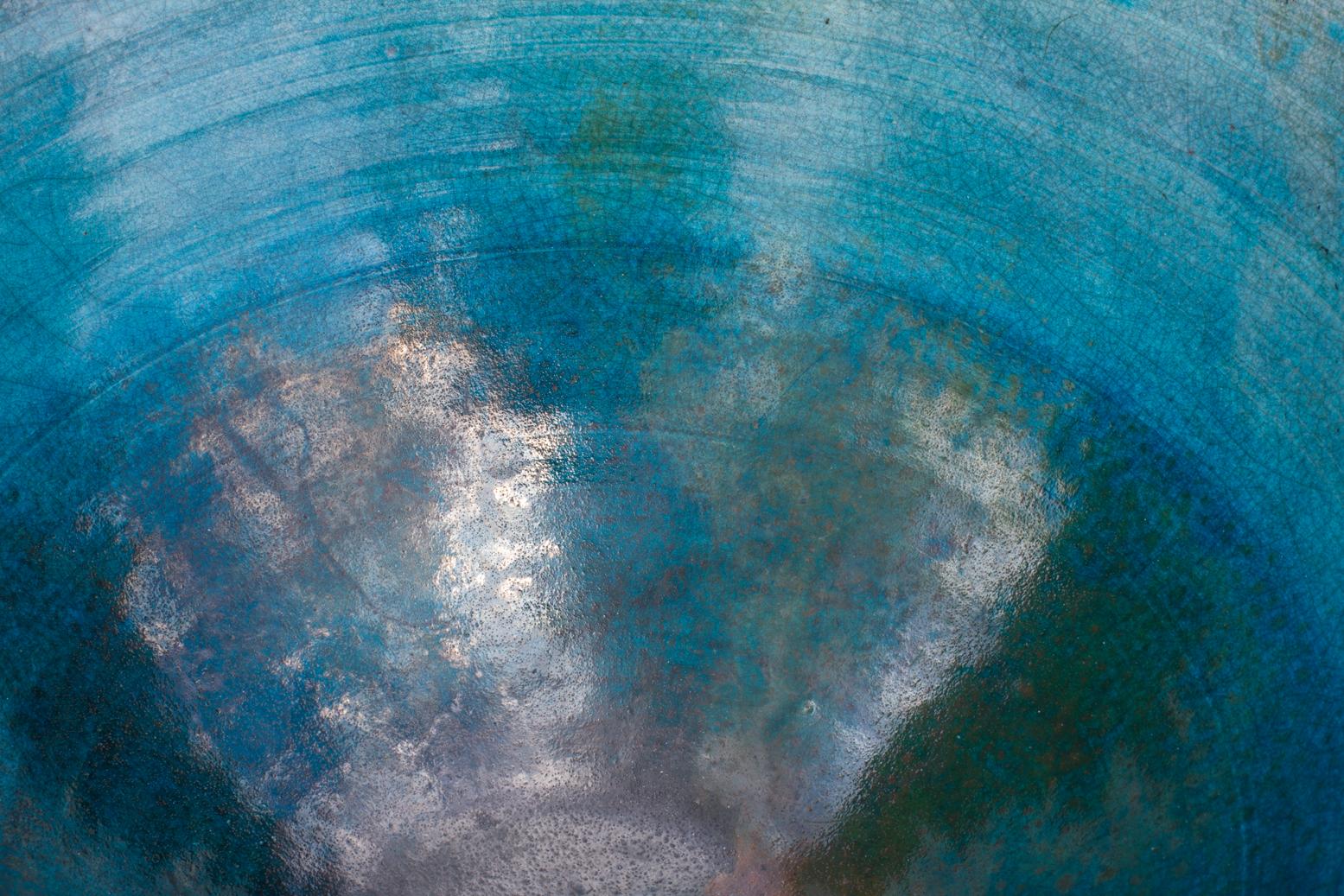 Raku Bowl - detail